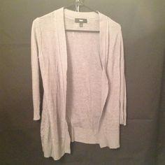 "Selling this ""Grey 3/4 Sleeve Cardigan"" in my Poshmark closet! My username is: melissam83. #shopmycloset #poshmark #fashion #shopping #style #forsale #Tops"
