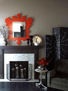 Halloween decorations : IDEAS & INSPIRATIONS  Modern Fireplace Update