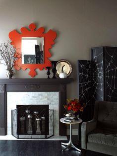 Halloween decorations : IDEAS & INSPIRATIONS  Modern Fireplace Update