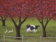 """Lowell Herrero (American, born 1921) ~ """"Crabapples In Bloom"""""""