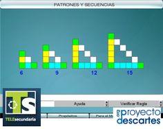 PROYECTO TELESECUNDARIA. Patrones y secuencias - 2. Que los alumnos exploren algunas sucesiones numéricas y figurativas; y determinen la regla que corresponde a cada sucesión.