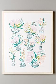 Bouquets En Vase Print - anthropologie.com