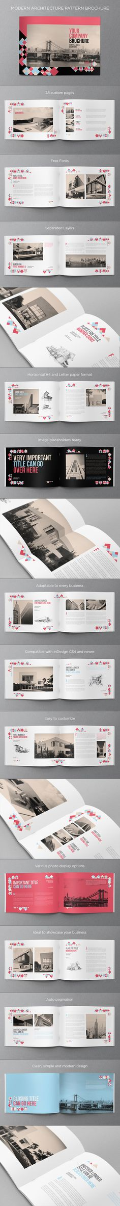 Modern Architecture Pattern Brochure. Download here: http://goo.gl/0HEOCF
