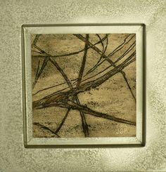 Grabado sobre mármol travertino
