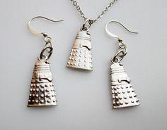 FanArt Doctor Who Dalek Necklace and Earrings by CranberryStreetNY, $17.99