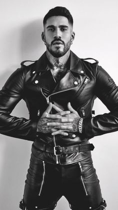 Men's Leather Jackets: How To Choose The One For You. A leather coat is a must for each guy's closet and is likewise an excellent method to express his individual design. Leather jackets never head out of styl Mens Leather Pants, Biker Leather, Leather Jackets, Black Leather, Biker Jackets, Casual Jackets, Men's Jackets, Jackets Online, Fashion Moda