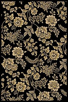 "Modern Floral Black Rug 3'3"" x 5'3"" Flowers, Vines, and Leaves; Slim Border Carpet Super Area Rugs http://www.amazon.com/dp/B00MV0RK4Q/ref=cm_sw_r_pi_dp_3Xoxvb14H32X1"