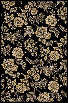 "Modern Floral Black Rug 3'3"" x 5'3"" Flowers, Vines, and Leaves; Slim Border Carpet Super Area Rugs http://www.amazon.com/dp/B00MV0RK4Q/ref=cm_sw_r_pi_dp_3Xoxvb14H32X1"
