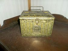 RARE Patterson's Seal Cut Plug Tobacco Vintage Tin Metal Lunch box Container!