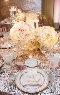 Photographer: KLK Photography; Wedding reception centerpiece idea;