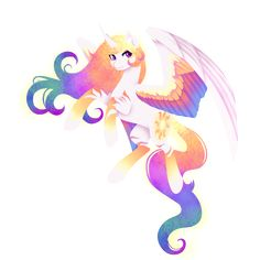 Rainbow Power - Celestia by FuyusFox