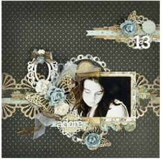 Thirteen like the doily shapes used as a border and the embellishment in top corner