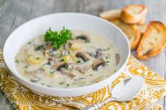 Mushroom Soup Recipe, Best Mushroom Soup, Cream of Mushroom Soup Recipe With Cream Of Mushroom Soup, Easy Mushroom Soup, Mushroom Soup Recipes, Mushroom Recipe, Creamed Mushrooms, Stuffed Mushrooms, Kitchen Recipes, Cooking Recipes, Sauce Recipes