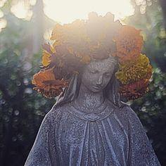 Cloister of the Heart Divine Feminine, Madonna, Mary, Statue, Garden, Painting, Garten, Lawn And Garden, Painting Art