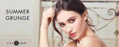 La saison estivale nous donne souvent envie d'un maquillage naturel, frais et léger, l'envie d'être maquillée sans en avoir l'air... Look Summer Grunge Lily Lolo #maquillage #naturel #été #green #minéral #lilylolo #look #tuto #officinaparis