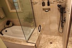Master Bath Remodel, West Akron, OH #1 - transitional - showers - cleveland - Cabinet-S-Top