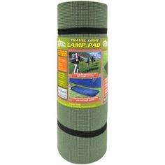 "Venture Products, LLC Outdoors Travel Light Classic Camp Pad, 25"" x 78"", Green"