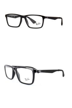 d0823c3c82 Eyeglass Frames  Brand New Authentic Ray- Ban Eyeglasses Rb7056 2000 Black  55-17