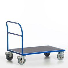 GTARDO.DE:  Schiebebügelwagen, Tragkraft 1200 kg, Ladefläche 1200x800 mm, Maße 1320x800 mm, Rad-Ø 200 mm 284,00 €