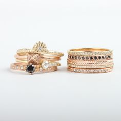catbird wedding stacks, would make a great bridesmaid gift too | #weddingring #stackingring #bridesmaidgift