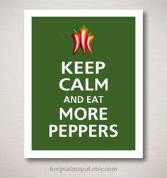 Since my hubby and I love spicy food, this art print is perfect for our kitchen!