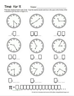 Pieces by Polly: Time for Pi - Second Grade Math Worksheet for Pi-Day Christmas Math Worksheets, 2nd Grade Math Worksheets, Math Binder, Pi Math, Teacher Sites, Math Enrichment, Second Grade Math, Grade 2, Homeschool Math