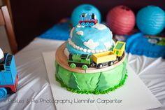 Pickles & Pie Photography: Very Hungry Caterpillar Birthday & Thomas the Train Birthday party Thomas The Train Cake