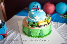 Pickles & Pie Photography: Very Hungry Caterpillar Birthday & Thomas the Train Birthday party Thomas The Train Cake