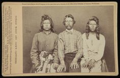 The Modoc War was an armed conflict between the Native American Modoc people and the United States Army in northeastern California and southeastern Oregon from 1872 to 1873.  The images below of imprisoned Modoc warriors were taken by Louis Herman Heller (1839-1929) during and after the war.