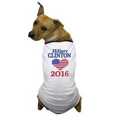 CafePress - Hillary Clinton 2016 USA Dog T-Shirt - Dog T-Shirt, Pet Clothing, Funny Dog Costume >>> For more information, visit image link. (This is an affiliate link and I receive a commission for the sales)