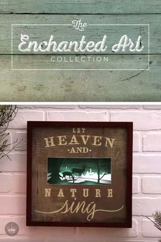 Heaven and nature come to life with this rustic wooden sign featuring a dimensional lighted winter scene. Bring a little vintage charm to your family room or entryway this Christmas with this Hallmark Enchanted Art Decoration.