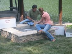 How To Build a Propane-Fueled Fire Pit : How-To : DIY Network