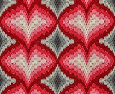 4 of hearts Bargello needlepoint