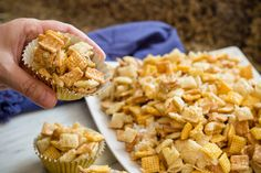 Chex Mix for the Holidays ~ Ooey Gooey Chex Mix Recipe Chex Mix Recipe Oven, Chex Mix Recipes, Snack Recipes, Dessert Recipes, Desserts, Christmas Trash Recipe, Christmas Snacks, Halloween Snacks, Dessert