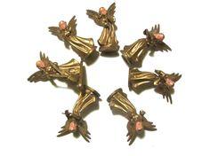 Antiqued Gold Angel Musicians Miniature Band Christmas Decor