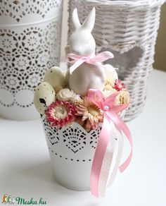 Diy Home Decor, Jar, Spring, Crafts, Vintage, Easter, Manualidades, Diy Ideas For Home, Handmade Crafts