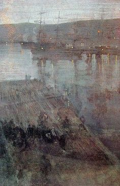 Nocturne in Blue and Gold Valparaiso Bay, 1866 - James McNeill Whistler James Abbott Mcneill Whistler, Urban Landscape, Abstract Landscape, Landscape Paintings, Nocturne, Art For Art Sake, Art Graphique, American Artists, Graphic