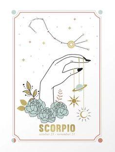 Scorpio Zodiac Series Mini Art Print by cafelab Scorpio Art, Zodiac Art, Scorpio Zodiac, Zodiac Signs, Astrology Signs, 23 November, November 4 Zodiac, Roblox Pictures, Custom Decals