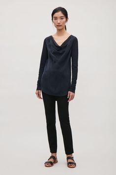 COS | Top with draped neckline