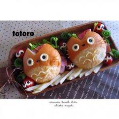 Totoro hamburger bento