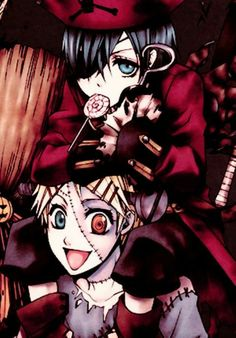 Kuroshitsuji {Black Butler} - Ciel Phantomhive and Finnian Black Butler Cosplay, Black Butler Anime, Manga Art, Manga Anime, Fnaf, My Little Pony, Anime Amino, Anime Halloween, Halloween Party