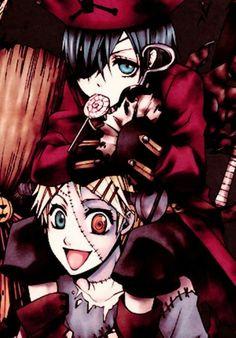 Ciel and Finnian | Kuroshitsuji - Black Butler #Anime #Manga ☆by Yana Toboso