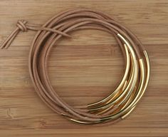 leather stacked bangles
