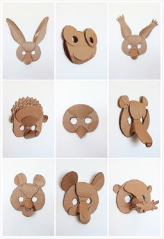 one color animal masks