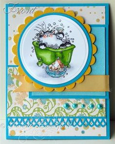 penny black stamped card so cute