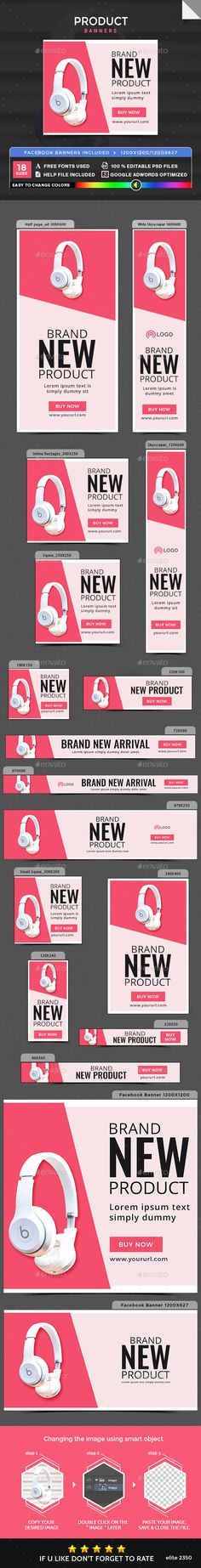 Product Banners — Photoshop PSD #google adwords #business • Available here → https://graphicriver.net/item/product-banners/20191811?ref=pxcr