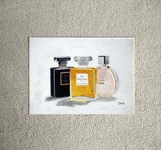 Chanel No.5 Chanel Noir Chanel Chance Perfume ART by SubjectArt