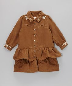 Take a look at this Camel Giddyup Button-Up Dress - Infant, Toddler & Girls by Trish Scully Child on #zulily today!