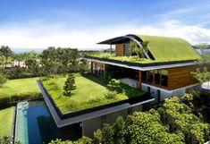 Green Roof- Sky Garden House, Guz Architects on island of Sentosa adjacent to Singapore. www.guzarchitects.com