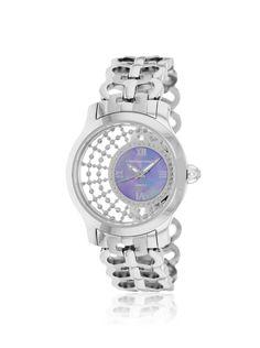 Christian Van Sant Women's CV4412 Silver/Purple MOP Stainless Steel Watch at MYHABIT